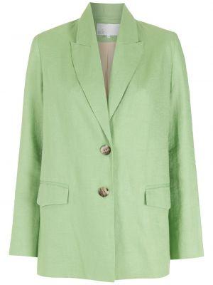 Прямой зеленый классический пиджак на пуговицах Nk