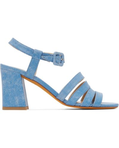 Niebieskie sandały na obcasie skorzane Maryam Nassir Zadeh