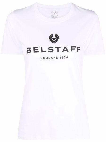 Белая футболка с короткими рукавами Belstaff