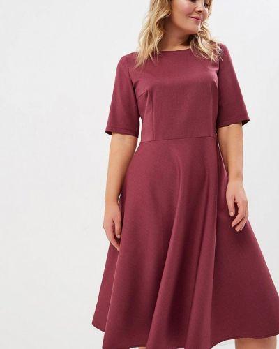 Платье миди бордовый красный Borboleta