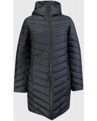 Приталенная черная куртка с капюшоном ветрозащитная Ostin