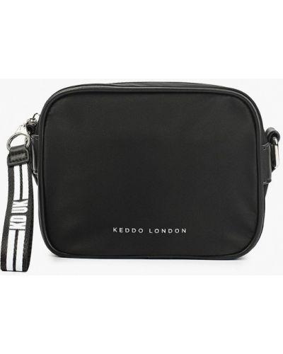 Нейлоновая сумка через плечо - черная Keddo