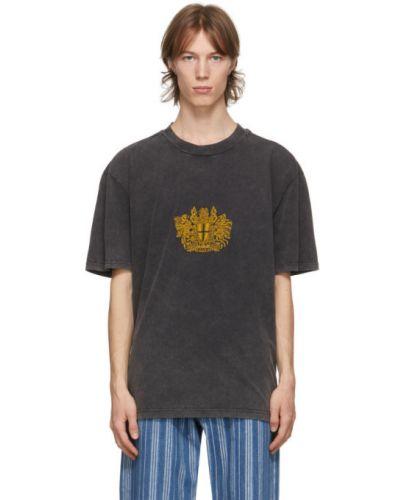 Трикотажная футболка с воротником с вышивкой Han Kjøbenhavn