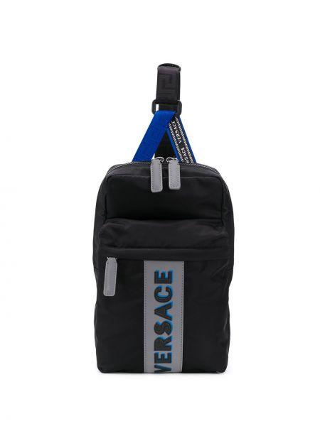 Akryl plecak na torbę czarny plecak z logo Versace