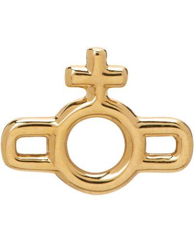 Золотые серьги золотые Vivienne Westwood
