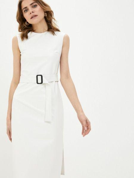 Белое вязаное платье Knitman