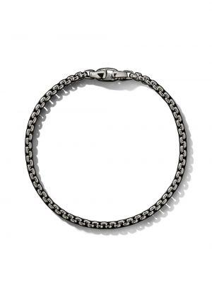 Klasyczna bransoletka srebrna oversize David Yurman