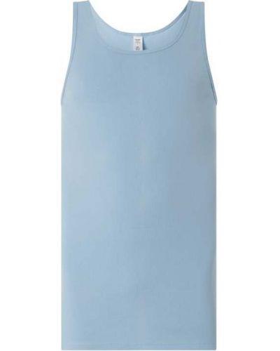 Niebieski top bawełniany Calida