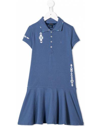 Платье с рукавами короткое плиссированное Ralph Lauren Kids