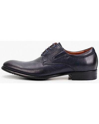 Кожаные синие туфли Rossini Roberto