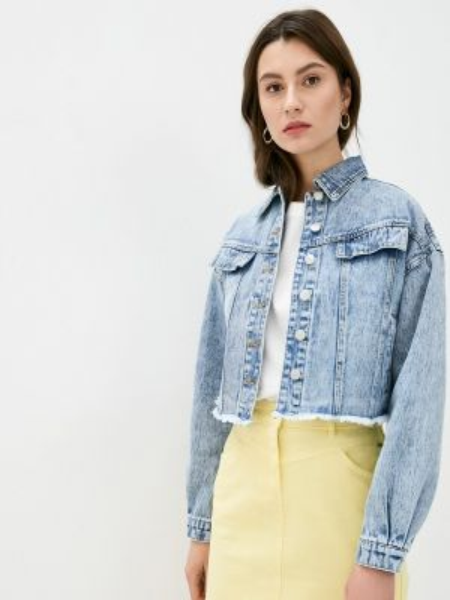 Джинсовая куртка весенняя синий B.young