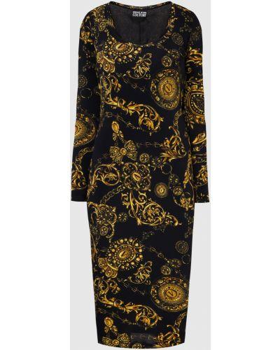 Джинсовое платье миди - черное Versace Jeans Couture