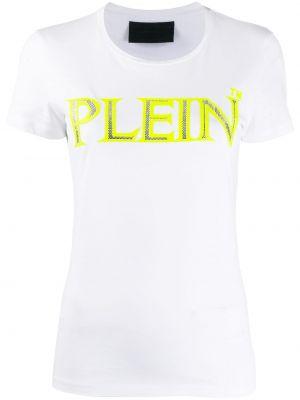 Koszula z krótkim rękawem biała prosto Philipp Plein