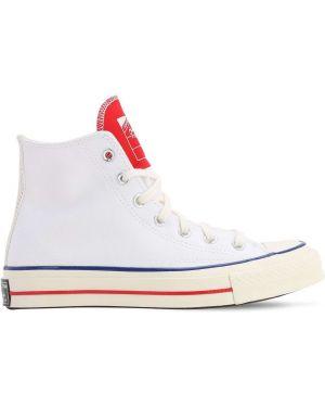 Buty sportowe na obcasie - białe Converse