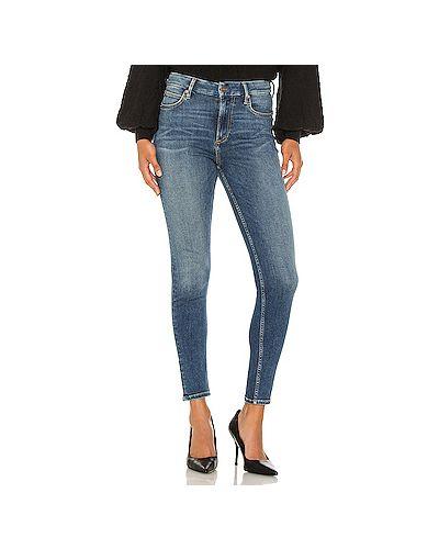 Хлопковые джинсы-скинни на молнии свободного кроя Free People
