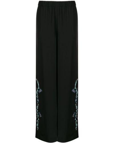 Шелковые брюки - черные Vilshenko