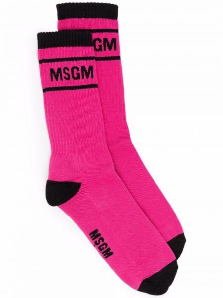 Черные носки с принтом Msgm