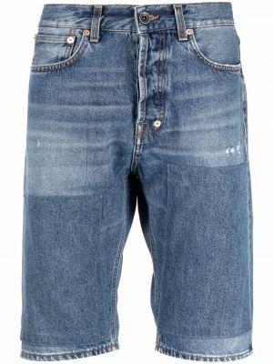 Niebieskie jeansy z wysokim stanem z paskiem Prps