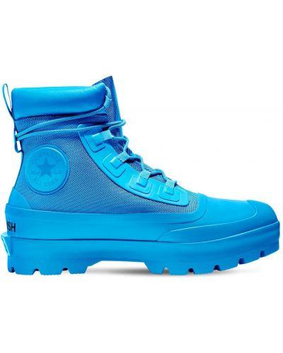 Ботильоны на каблуке - синие Converse