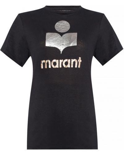 T-shirt z printem - czarna Isabel Marant Etoile