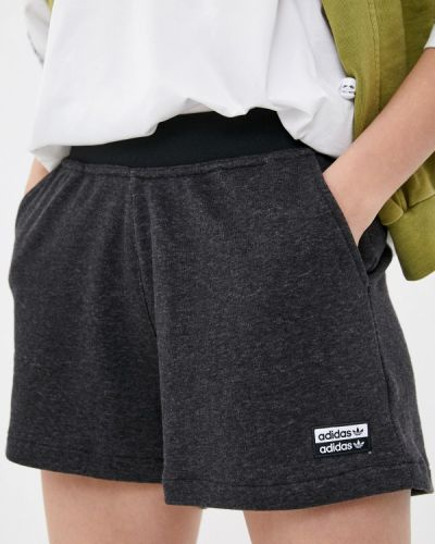 Серые спортивные шорты Adidas Originals
