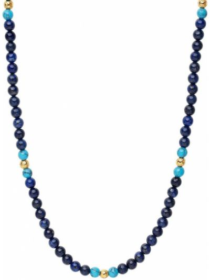 Брендовое синее ожерелье с бисером Nialaya Jewelry