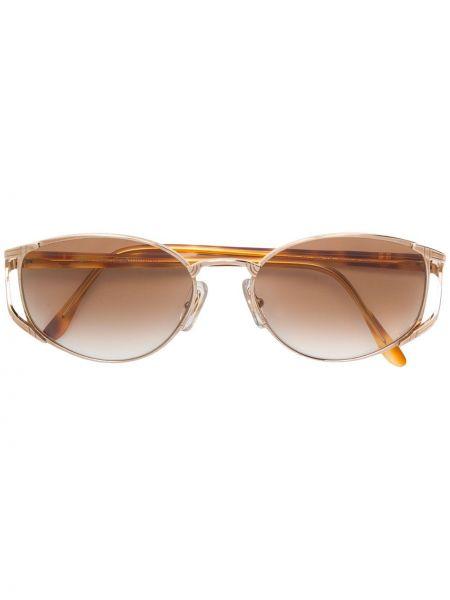 Желтые солнцезащитные очки металлические Emanuel Ungaro Pre-owned