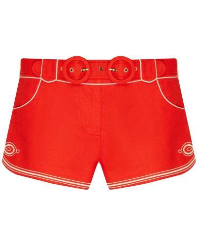 Короткие шорты красный Zimmermann