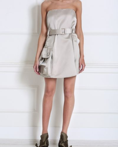 Платье с поясом серое на пуговицах The Marc Jacobs