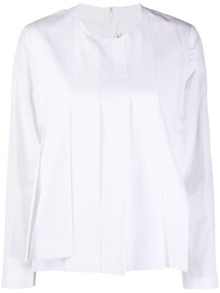 Biały top z długimi rękawami bawełniany Comme Des Garcons