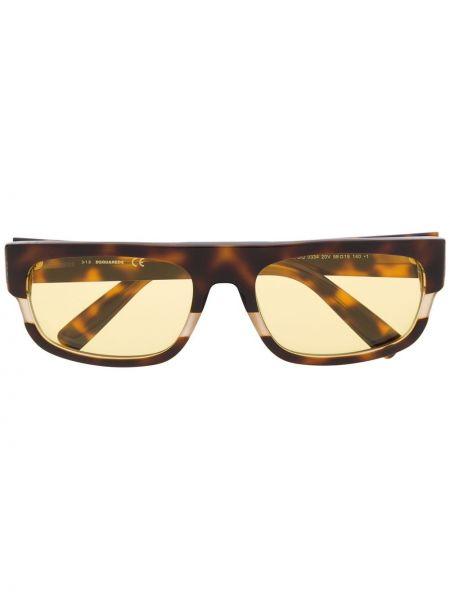 Прямые муслиновые солнцезащитные очки прямоугольные Dsquared2 Eyewear
