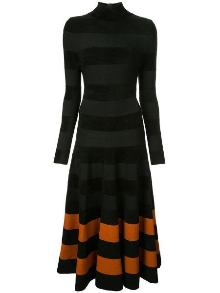 Платье макси длинное - черное Oscar De La Renta