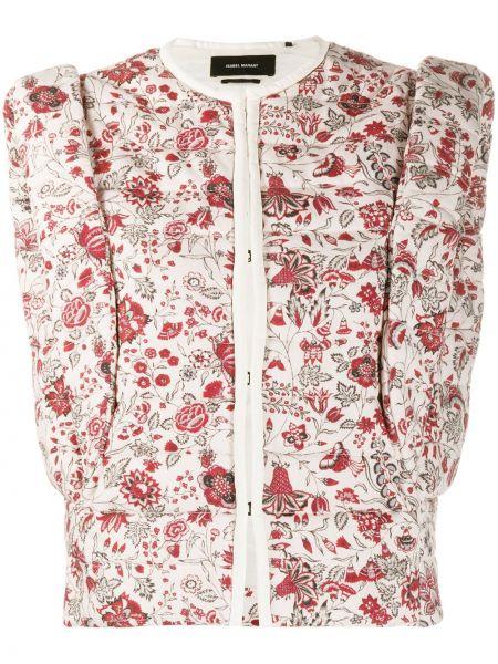 Bawełna różowy kamizelka z kieszeniami okrągły Isabel Marant