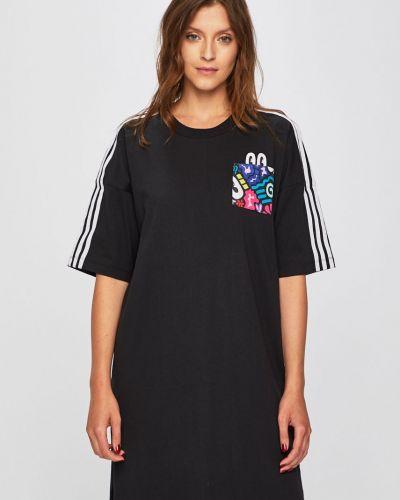 Платье мини с карманами однотонное Adidas Originals