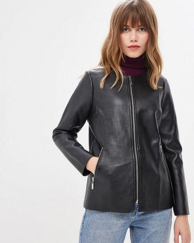 Кожаная куртка осенняя черная Camomilla Italia