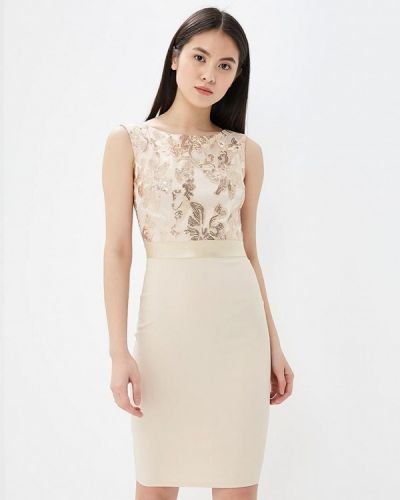 Бежевое платье весеннее Goddiva