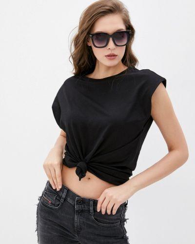 Черная футболка с короткими рукавами Q/s Designed By