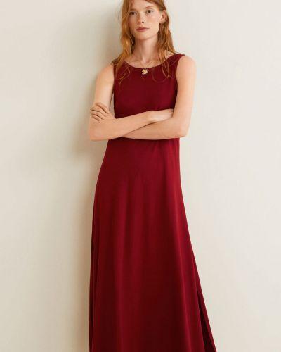 Облегающее платье с вышивкой с поясом Mango
