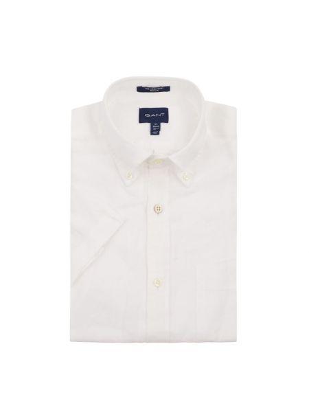 Koszula krótkie z krótkim rękawem z logo z kołnierzem Gant