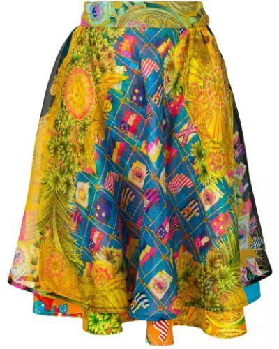 Юбка винтажная шелковая Versace Vintage