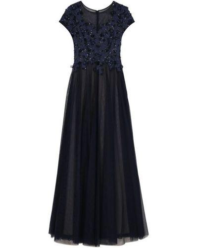 Вечернее платье с вышивкой приталенное с бисером Basix Black Label