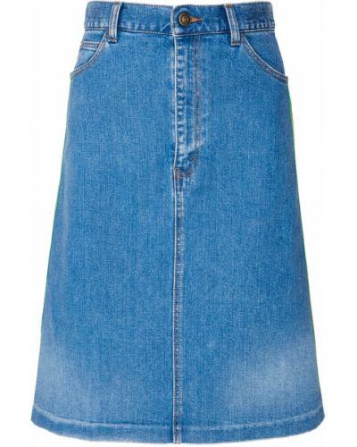 Юбка мини джинсовая с завышенной талией Gucci