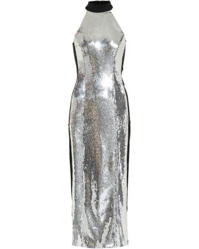Платье с пайетками темный Galvan