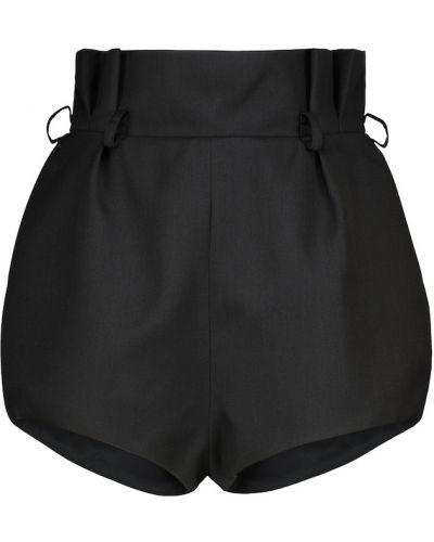 Шерстяные черные шорты Alexandre Vauthier