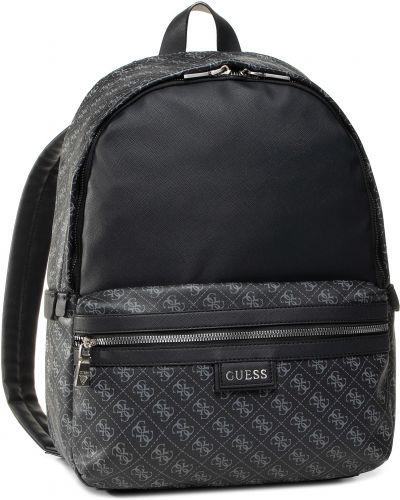 Plecak na torbę czarny plecak z logo Guess