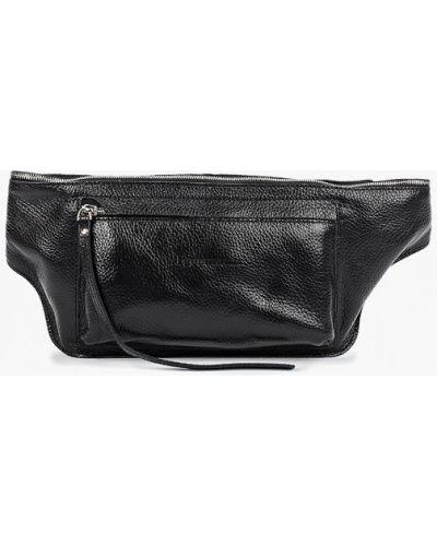 Кожаная сумка поясная черная Igermann