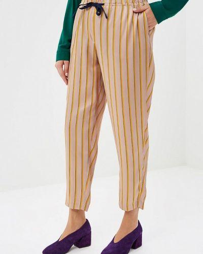 Бежевые брюки повседневные Violeta By Mango