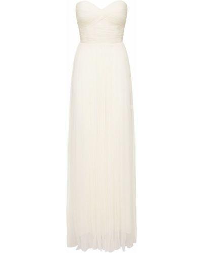 Платье макси из фатина - белое Maria Lucia Hohan