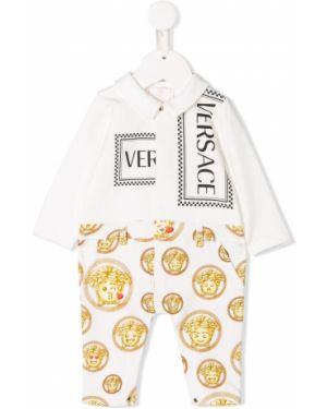 Комбинезон белый с логотипом Young Versace