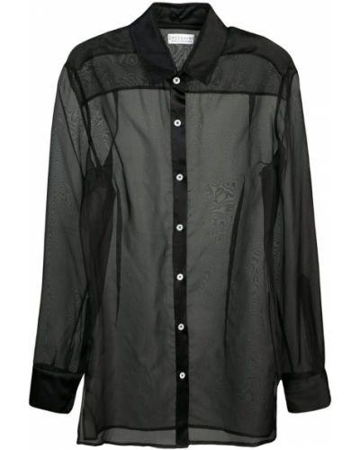 Рубашка с длинным рукавом свободного кроя прозрачная Dresshirt
